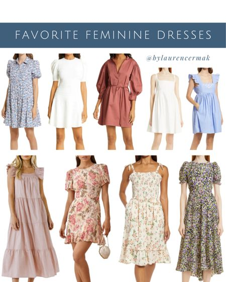 {Favorite Feminine Dresses} Nothing beats feminine dress detailing 😍 And these are some of my favorites right now! To shop, click the link in my profile or you can shop by screenshot in the @liketoknow.it app!      #LTKworkwear #LTKwedding #LTKunder100