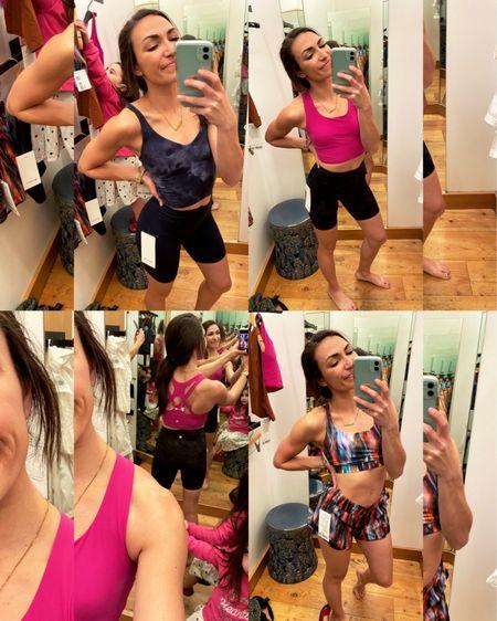 Lululemon align biker shorts, and tank, sports bra ... best yoga + workout clothes! http://liketk.it/3b21Z #liketkit @liketoknow.it #LTKunder100 #LTKfit #LTKSpringSale