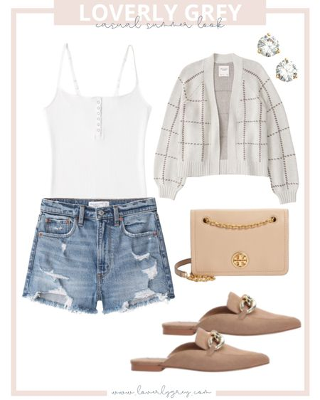 Loverly grey casual summer look! These shorts are also on sale right now!   #LTKsalealert #LTKunder100