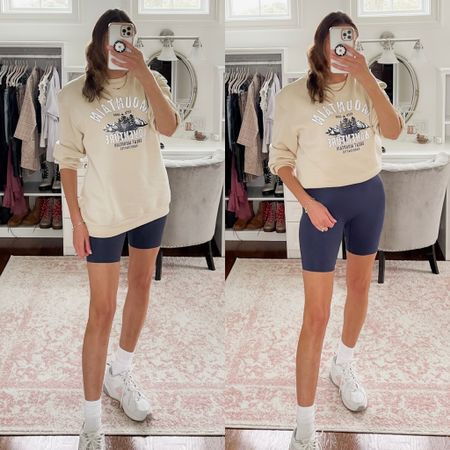 This Shein sweatshirt is the softest I own. And I love these new balance sneakers. 90s vibes   #LTKstyletip #LTKshoecrush #LTKunder100