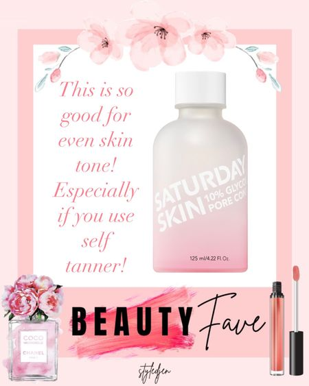 Glycolic toner is the best! I love this because it evens out my self tanner so well and makes it less splotchy!!     #LTKunder100 #LTKunder50 #LTKbeauty