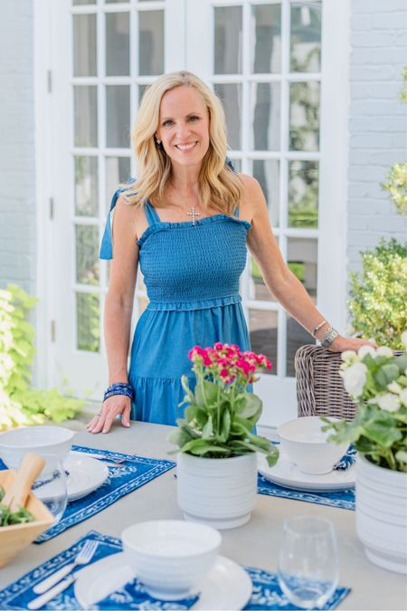 #AD| I love to set a table and Walmart has some some gorgeous indigo blue and white pieces to create the best tablescape! #WalmartHome http://liketk.it/3kld1 #liketkit @liketoknow.it   #LTKstyletip #LTKhome #LTKunder50
