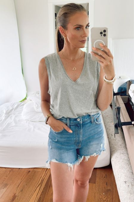 #LTKDay Abercrombie mom shorts and Styled Collection jewelry on sale. Free People Dreamy drapey tank top also on sale, buying more colors! @liketoknow.it #liketkit http://liketk.it/3hoRv