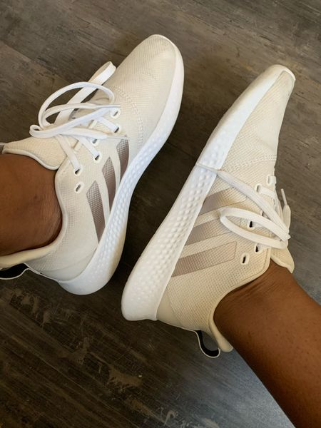 These sneakers are super comfortable. Running shoes, gym shoes, back to school shoes, sneakers, white sneakers   #LTKfit #LTKshoecrush #LTKbacktoschool