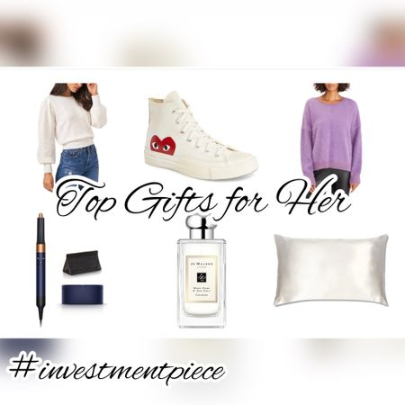 Top rated gifts? Pamper her (silk sheets, perfume, and the most amazing hair styler) or let her be in style (sweaters and kicks!) Love this edit from @nordstrom #investmentpiece   #LTKstyletip #LTKbeauty #LTKGiftGuide