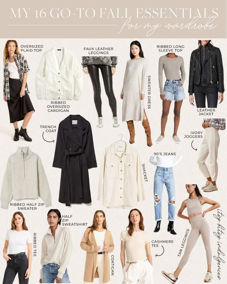 My 16 fall essentials for any wardrobe…  Full details in today's blog post (itsybitsyindulgences.com)    #LTKstyletip