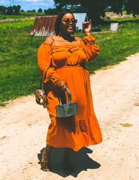 I FINALLY found a few affordable dupes for my FAVOURITE plus size spring dress!!! The orange is so vibrant and pretty, the puff sleeves are super on-trend and it's giving major cottagecore vibes. This would be gorgeous as a wedding guest dress or even a spring picnic 🧡  #LTKunder100 #LTKSeasonal #LTKcurves