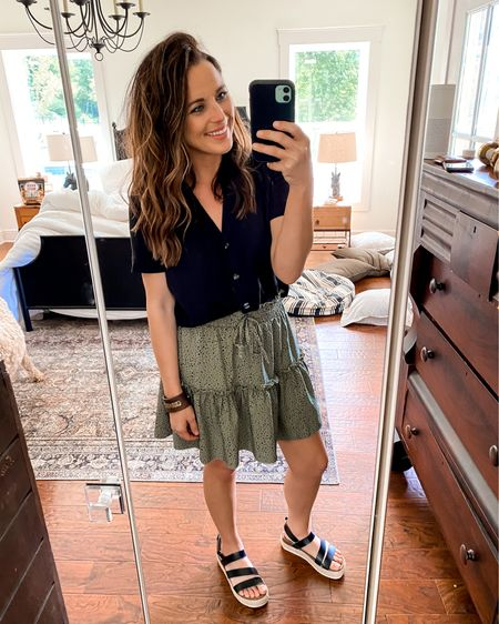 DATENIGHT outfit!! Loving this skirt from Amazon I ordered! I snagged it in another color too once I got this one in. I'm in a small!  http://liketk.it/3iOS4 @liketoknow.it #liketkit #LTKsalealert #LTKstyletip #LTKunder50