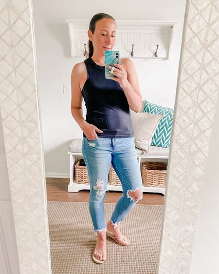 My new fave tank so comfy snd beautiful silhouette.     #LTKunder50 #LTKworkwear #LTKfit