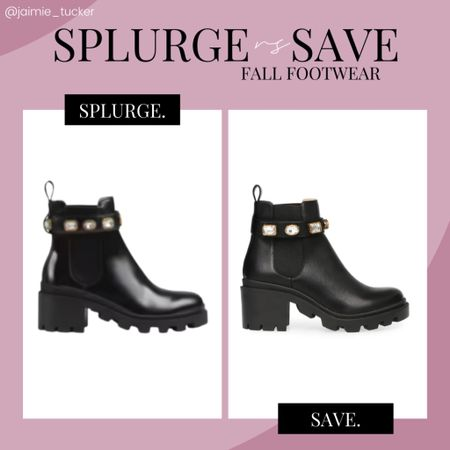Check out this fantastic Steve Madden dupe! Perfect shoe to buy if you're looking to save some $$$ | #stevemadden #gucci #gucciboots #ankleboots #designerboots #designerfootwear #fallfootwear #fallboots #workshoewear #popularfootwear #bestsellers #splurgevssave #JaimieTucker  #LTKSeasonal #LTKshoecrush #LTKstyletip