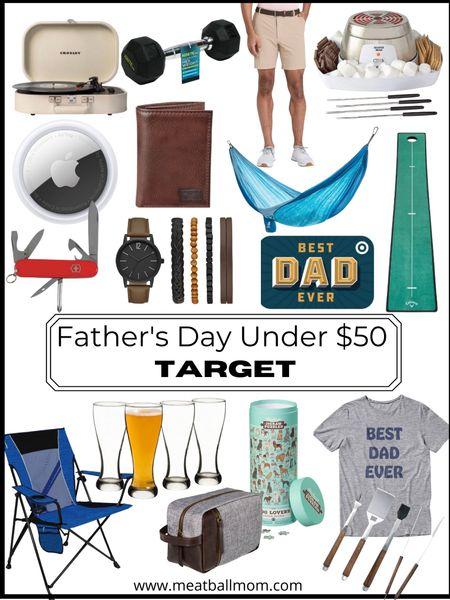 Father's Day gift ideas under $50 from Target!         Father's Day , Father's Day gift ideas, gifts for him, gifts for dad, target style, target finds #ltkhome #ltkfit #ltkstylestip  #LTKunder50 #LTKmens #LTKfamily