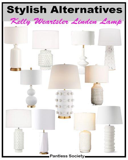 White lamps. White table lamps. Kelly Wearstler. Living room. Master bedroom. Home decor. Home furnishing. Lighting. Home makeover. Home refresh. Stylish alternatives.  #LTKstyletip #LTKfamily #LTKhome