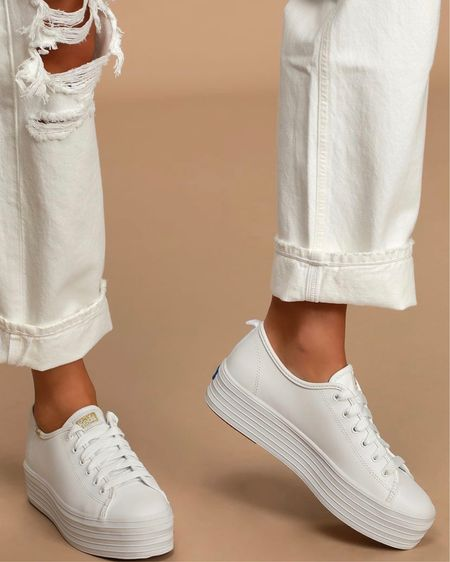 Loving my new @keds white platform sneaker kicks 😍😍😍   #liketkit #LTKstyletip #LTKunder100 #LTKfit   You can instantly shop my looks by following me on the LIKEtoKNOW.it shopping app!   http://liketk.it/2VxxU @liketoknow.it
