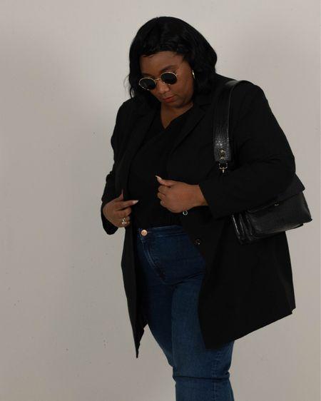 Classic style Black Blazer, jeans and black tank top, #plussize http://liketk.it/3hhfp #liketkit @liketoknow.it #LTKcurves #LTKstyletip #LTKunder50 @liketoknow.it.europe @liketoknow.it.family @liketoknow.it.home
