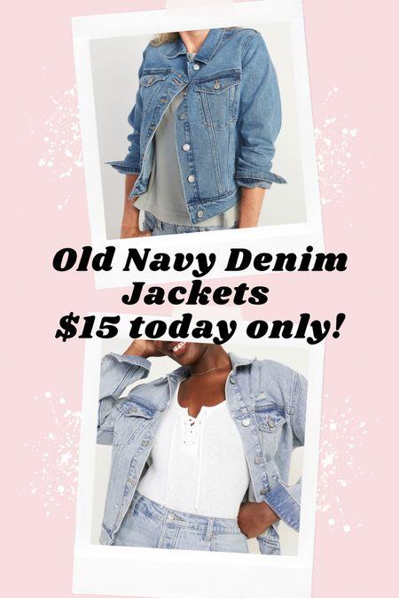 These two Old Navy denim Jean jackets are only $15 today only! I wear the XL.    #LTKsalealert #LTKcurves #LTKSeasonal