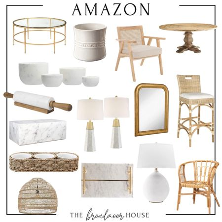 Amazon home, Amazon Finds, Decor, Neutral Decor, Dining Table, restoration hardware, barstools, counter stools, coffee table, marble furniture, marble Lamps, brass lamps, tray, bathroom tray, kitchen Decour, serving, seagrass wrapped, BoHo, dining chairs, Serena and Lily, coastal, arched mirror, wall mirror, bathroom mirror, utensil crock, pottery barn, living room furniture, bowls, white lamp, table lamp, bedroom Decor, Living room Decor, living room furniture  #LTKstyletip #LTKhome #LTKfamily