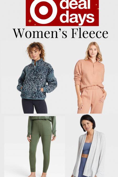 Women's cozy fleece sale items from target.   #LTKfit #LTKsalealert #LTKstyletip