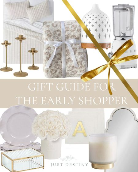 Less than 100 days before the holiday season will be upon us!  For those of you early shoppers, I've created a Gift Guide so that you can gather ideas and get a head start!   #holidays #Christmas #gift #giving #kitchen #home #bedroom #livingroom #neutral #white #homedecor  #LTKGiftGuide #LTKhome #LTKHoliday