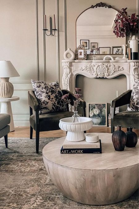 Living room, living room decor, coffee table, accent chairs, lamp and more    #LTKSeasonal #LTKhome