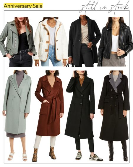 Quick roundup of in-stock Nordstrom Anniversary Sale coats! These are available in at least one size, and most are fully stocked.  #nsale #nsalecoats #nsaleinstock #nsalepublicaccess nsale coats, Nordstrom Sale coats, Nordstrom Anniversary Sale coats, Nordstrom Sale public access, nsale coat, anniversary sale coats