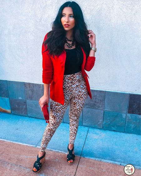"""I've always had a love/hate relationship with #cheetahprint and #leopardprint clothing. I really do LOVE it but sometimes I feel it can be too much or over the top but truth be told, I AM over the top and that's just me 🥰 So today, I embraced it- loud, proud, and all! So if you're feeling something is """"too loud,"""" consider how it makes you feel when you wear it. If the answer is """"fabulous,"""" than honey, rock it! http://liketk.it/2FuxW #liketkit @liketoknow.it #LTKxPFW #LTKcurves #LTKfit #LTKshoecrush #LTKstyletip #LTKworkwear @liketoknow.it.europe  Shop my daily looks by following me on the LIKEtoKNOW.it shopping app  . #love #cheetah #cheetahlicious #fashion #style #blazer #cheetahgirls #fashionista #styleinspo #redhot #popandspicestyle #fashionblogger #embraceyourself #leopard  #leopardprint"""