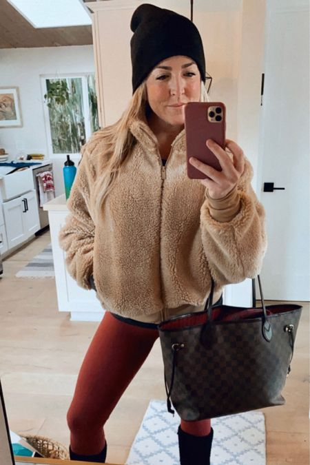 Extra cozy today in my Sherpa Jacket from @Alo. As always rocking my Align leggings from @lululemon ❤️ I swear I have had this Neverfull @LuisVuitton bag for years, best investment ever!  http://liketk.it/33kuu #liketkit @liketoknow.it #LTKitbag #LTKunder100 Download the LIKEtoKNOW.it shopping app to shop this pic via screenshot