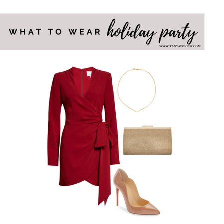 The perfect look for your upcoming holiday parties! Can also work for a wedding   #LTKstyletip #LTKHoliday #LTKwedding