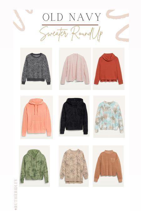 Old Navy Sweater RoundUp🙌🏾🙌🏾  Old Navy sweater cardigan sweatshirt hoodie tunic  #LTKsalealert #LTKunder50 #LTKstyletip