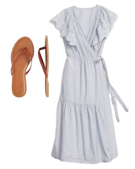 If you're looking for a modest versatile dress, this dress has the most perfect eyelet details and the stripes are perfect with the wrap feature. Also, these sandals are comfy and stylish! #liketkit http://liketk.it/2TolE @liketoknow.it #LTKunder50 #LTKspring #LTKstyletip Shop your screenshot of this pic with the LIKEtoKNOW.it shopping app