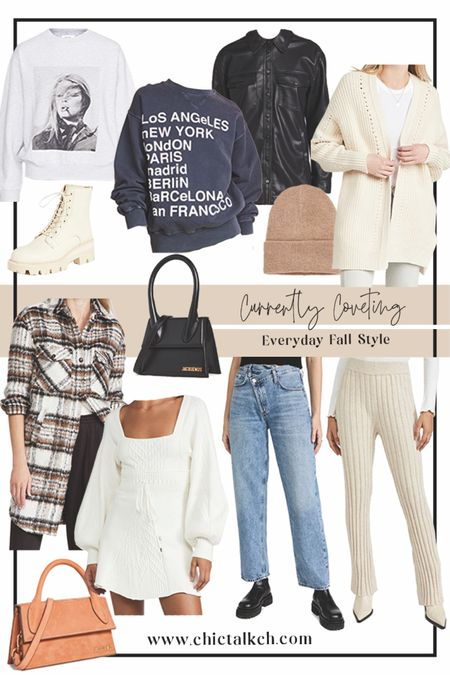 Currently coveting via Shopbop! ⚡️🖤fall fashion, fall outfit, knit pants, plaid shacket, swratshirts, bags, fall bag, beanie, agolde jeans  #LTKHoliday #LTKGiftGuide