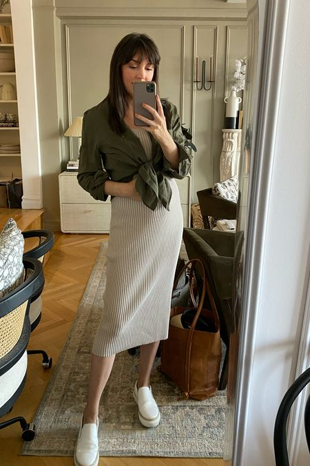 Ribbed midi dress - my fave this pregnancy. Not maternity but works with it without a bump.   #LTKbump #LTKunder100 #LTKstyletip