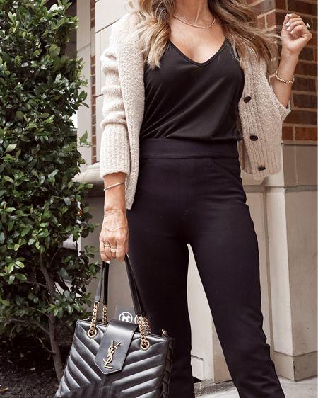 Spanx leg pants, Sz S, cozy cropped cardigan, sZ XS Nordstrom anniversary sale, NSale, herfashionedlife   #LTKsalealert #LTKunder100 #LTKworkwear