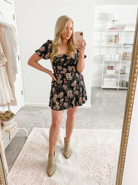 Such a cute fall dress but it was too short for me. Great for my petite girls! Wearing a medium   #LTKSale