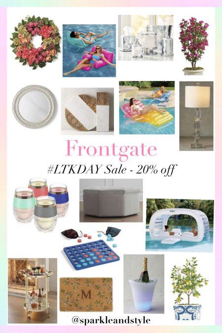 LTK Day Sale: Frontgate - 20% off   http://liketk.it/3hvxN @liketoknow.it #liketkit #LTKDay #LTKsalealert #LTKhome   Home decor, floral wreath, pool floaties, bathroom set, home plants, home trees, mirror, charcuterie boards, table lamp, drink glasses, ottomen, pool games, bar cart, drink cart, door mat, wine cooler, lemon tree