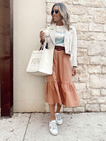 Target skirt size S & anine bing tshirt on sale wearing a S   #LTKunder50 #LTKsalealert #LTKstyletip