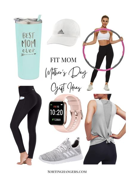 Mother's Day Gift Ideas for fit moms under $25  Leggings | tumbler | fitness watch | tank top | sneakers | hula hoop | cap    #LTKstyletip #LTKunder50 #LTKfit