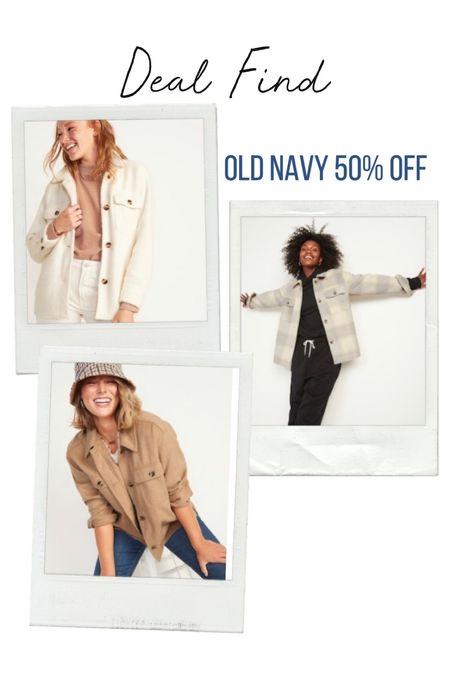 Old Navy sale alert! 50% off EVERYTHING 🚨 Shackets | Fall outfits | jacket | jeans | boots | fall family photos | airport outfit | sweaters | #ltkcurves #ltkfit #ltkfamily #ltkstyletip #ltkshoecrush #ltkunder100 #ltkworkwear  #LTKsalealert #LTKunder50 #LTKSeasonal