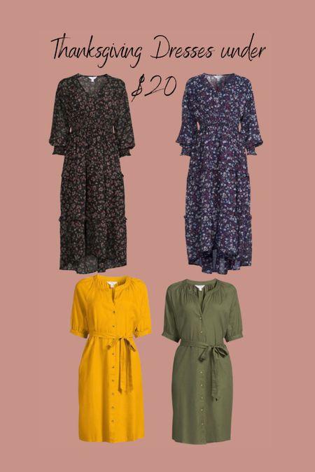Thanksgiving dresses under $20 from Walmart   #LTKunder50 #LTKSeasonal #LTKHoliday