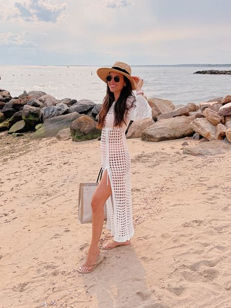 This swim coverup is just $20!!! Can you even believe that? It comes in a bunch of other colors and you can get it with fast shipping!   #LTKswim #LTKstyletip