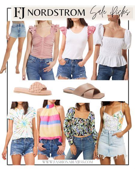 Summer style  #summer tops, denim shorts, summer outfits, vacation outfits   #LTKsalealert #LTKtravel #LTKstyletip