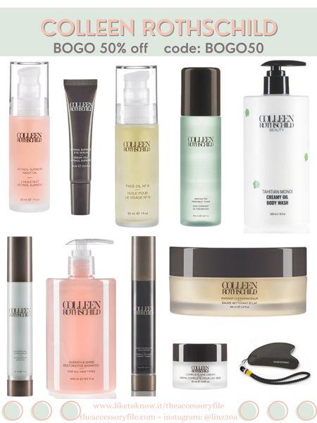 Colleen Rothschild Beauty Sale - BOGO 50% code BOGO50  Skincare, facial oil, eye cream, shampoo, body soap, body scrub, blemish treatment, black tourmaline face primer   http://liketk.it/3hHVX #liketkit @liketoknow.it #LTKbeauty #LTKsalealert