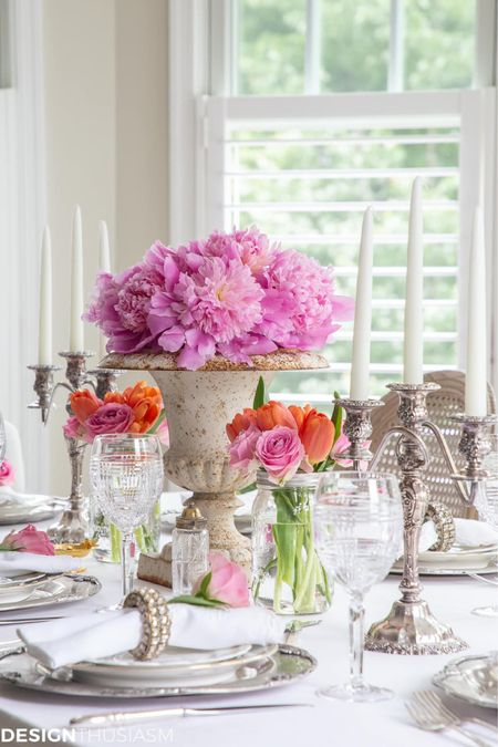 http://liketk.it/3iMqI #liketkit @liketoknow.it #LTKfamily #LTKhome #LTKstyletip the perfect white summer table with a pop a floral colors!