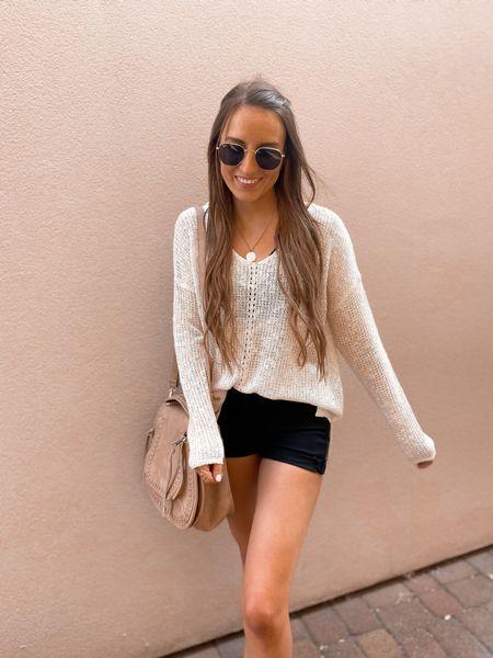 Loose summer knits 🤍 neutral outfit idea   #LTKSeasonal #LTKstyletip #LTKsalealert