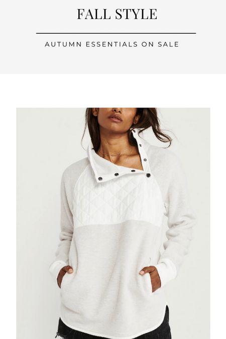 LTK sale, Abercrombie, fleece, sweater, tailgate outfit, sweatshirt   #LTKSale #LTKunder100 #LTKsalealert