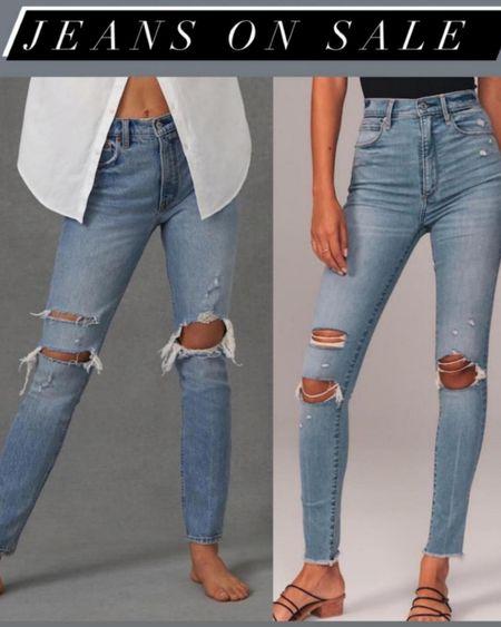 Ripped jeans in 24s on sale http://liketk.it/3hjDY    #liketkit @liketoknow.it #LTKunder100 #LTKsalealert #LTKunder50