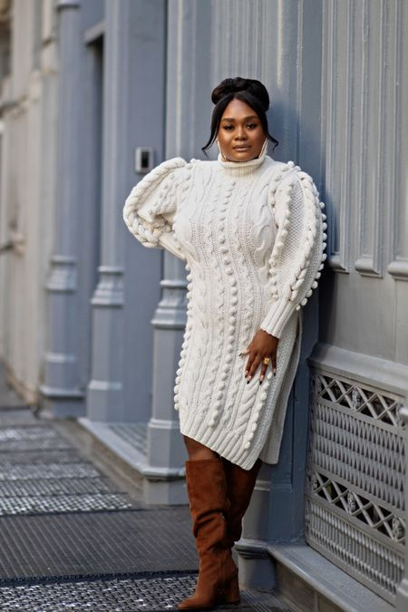 If ever there was an investment piece of clothing, this cable-knit tunic sweater from Ulla Johnson is it!   #LTKcurves #LTKSeasonal #LTKstyletip