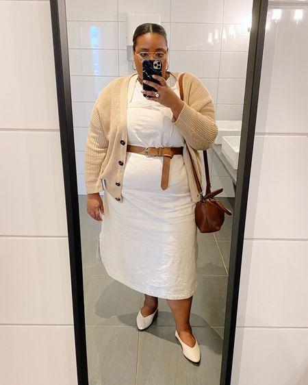 Plussize white jeans dress,   #LTKunder50 #LTKcurves #LTKstyletip