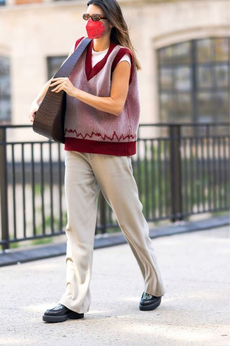 A sweater vest is on-trend this fall.   #LTKSeasonal