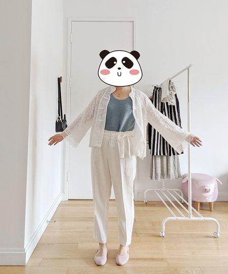 organic cotton sweater tank + hanfu top + high rise white pants + pink flats (great mother's day gift!)  #LTKunder100 #LTKstyletip #LTKshoecrush