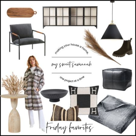 Friday favorites with booties, shackets, living room furniture, my favorite fall faux florals, lighting, pottery barn plaid blanket and more!   #LTKSeasonal #LTKhome